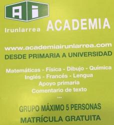 ACADEMIA IRUNLARREA, DESDE PRIMARIA A UNIVERSIDAD