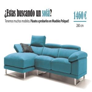 Sofá Chaise longue BARI - POLQUE