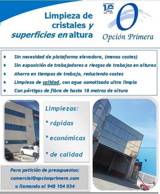 Anuncio Limpieza cristales El Callejero Navarra