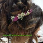 Floristeria Lorea peinado novia