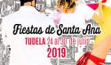 PROGRAMACIÓN DÍA A DÍA FIESTAS DE SANTA ANA - TUDELA2019