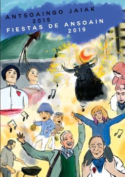 Cartel Fiestas de Ansoain Callejero