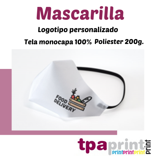 oferta MASCARILLAS PERSONALIZADAS – TPA PRINT
