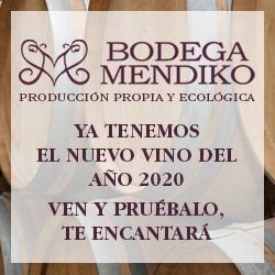 NUEVO VINO AÑO 2020 EN BODEGAS MENDIKO