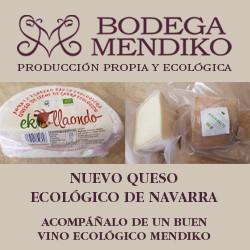 NUEVOS QUESOS ECOLÓGICOS DE NAVARRA -  BODEGA MENDIKO