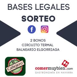 BASES LEGALES SORTEO 2 RECORRIDOS TERMALES EN EL BALNEARIO ELGORRIAGA